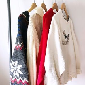 4 piece size large sweater weather box